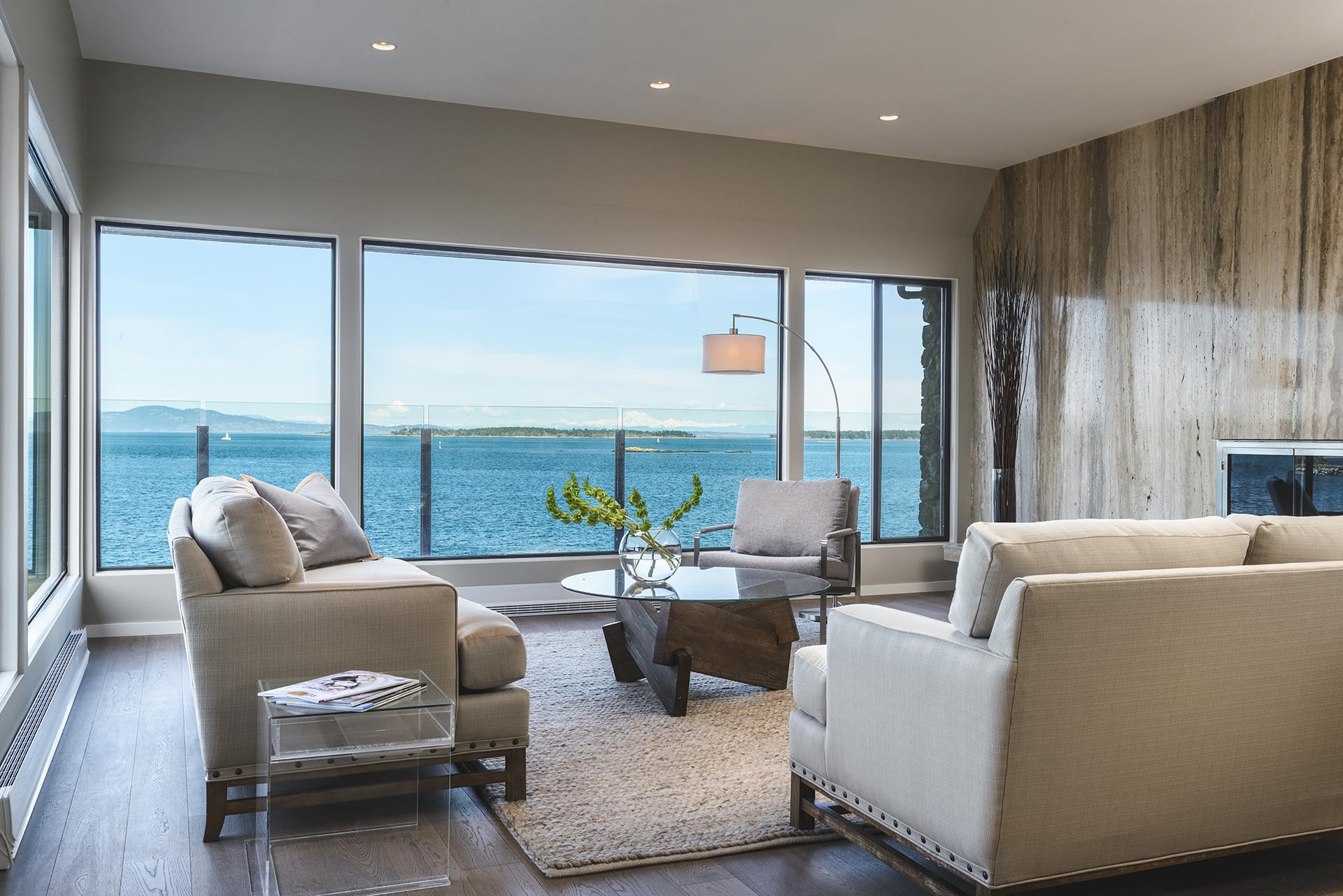 Condo Reno In Oak Bay Celebrates Ocean View Modern Home